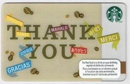 Starbucks Canada 2012 Thank You Gracias Merci Gift Card No Value English... - $1.51