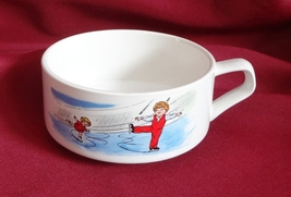 Campbell Kid 10 oz Handled Soup Mug Bowl Figure Skating - $14.99