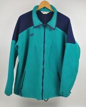 Men's Vintage COLUMBIA Fleece Jacket Turquoise Navy XL USA SM526X Full Z... - $26.73