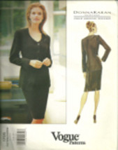 Vogue 1705 American Designer Donna Karan 1990s Suit Pattern Sizes 6 8 10... - $14.54