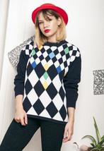 Knit jumper - 90s vintage cotton sweater - $34.04
