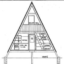 "A-Frame Cabin Plans '22 x 36"" - $32.00"