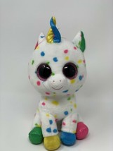 "Ty Beanie Boos HARMONIE 9"" Medium Confetti Unicorn Plush 2018 Stuffed An... - $11.88"