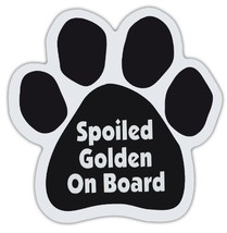 Dog Paw Shaped Magnets: SPOILED GOLDEN ON BOARD (RETRIEVER) | Dogs, Gift... - $6.99