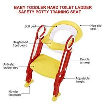 AYNEFY Potty Chair, Potty Training Seat Soft Toilet Chair Ladder Adjustable Safe image 6