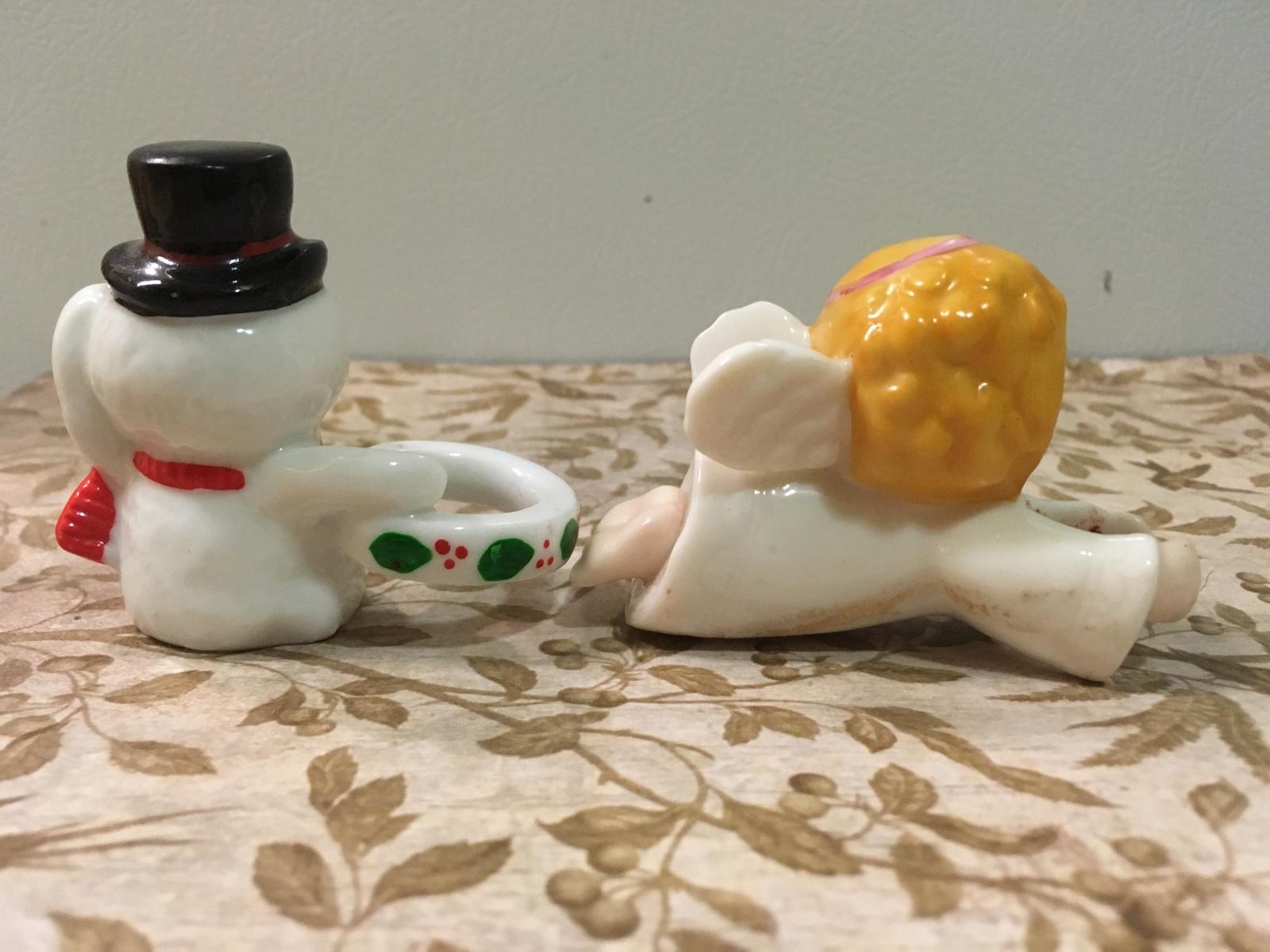 Vintage Assortment of Five Christmas Candle Climbers Holt Howard Lefton Enesco