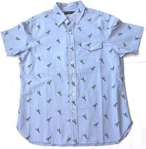 Polo Ralph Lauren Men's Printed Short-Sleeve Shirt , Light Blue, Size S,MSRP $89 - $49.49