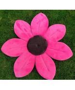 Blooming Bath Baby Bathing Mat Lotus Cushion Pink Daisy Petals Plush Flo... - $16.73