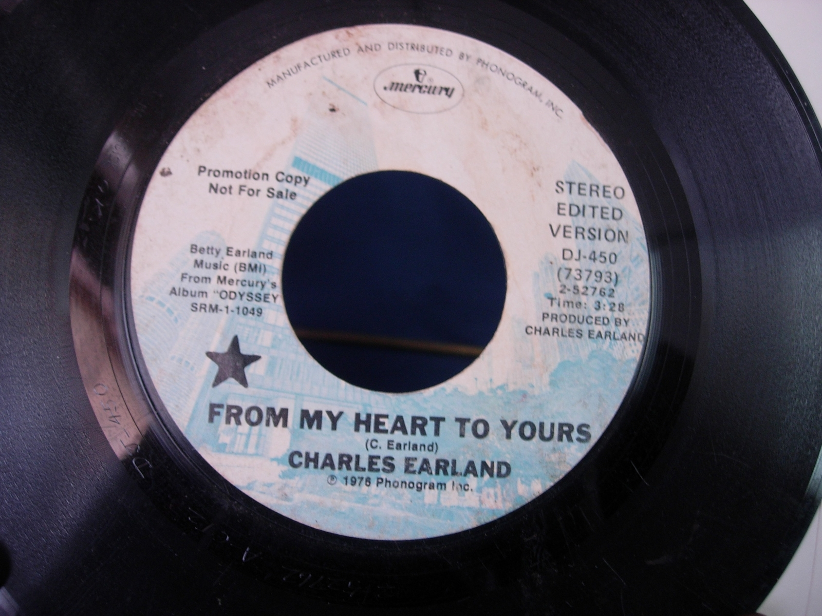 Charles Earland - From My Heart To Yours / Intergalactic - Mercury DJ-450