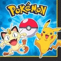Pokemon Pikachu and Friends Paper Luncheon Napkins 16 Ct - $4.58
