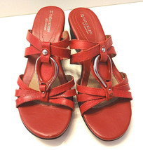 Naturalizer N5 Comfort Women's Strappy Wedge RED LEATHER UPPER Sandals s... - $21.27
