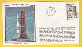 PROJECT SKYLAB SPACE STATION LAUNCH CAPE CANAVERAL 5/14/1973 COLORANO SILK - $2.68