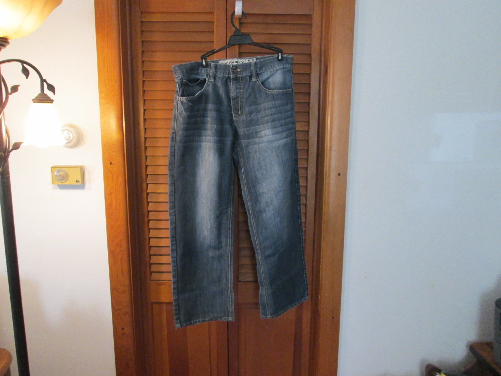 Mens Jeans Size 34X32 Avirex Blue A8/CJC
