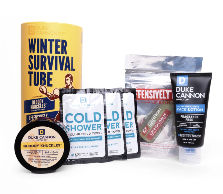 Duke Cannon Supply Co. Winter Survival Tube Skincare Hand Lip Balm Face Lotion