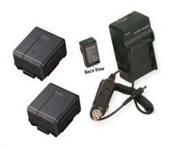 2 Batteries + Charger For Panasonic AG-HMC150 AG-HMC150P AG-HMC152, AG-HMC152EN, - $53.99