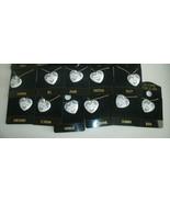 "Genuine Porcelain Heart Necklace Chain K Thru T NAMES 16"" Lavender Flowe... - $9.50"