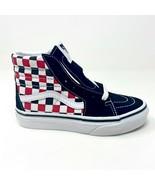 Vans Sk8 Hi (Checkerboard) Black Racing Red Kids Shoes - $44.95