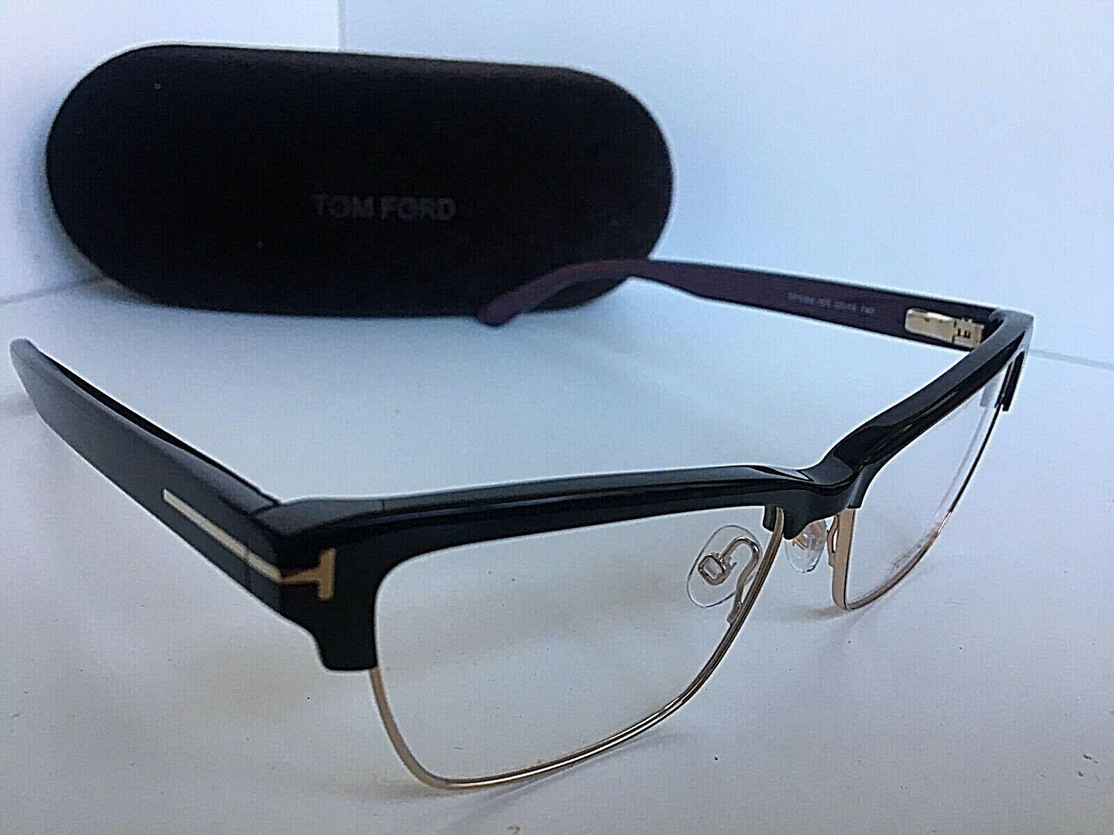 New Tom Ford TF 5364 005 Black Purple 53mm Women's Eyeglasses Frame