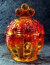 Indiana Glass Candy Box Ruby/Amberina Sold By Tiara Bold Color 1983-1992 ❤❤ - $29.70