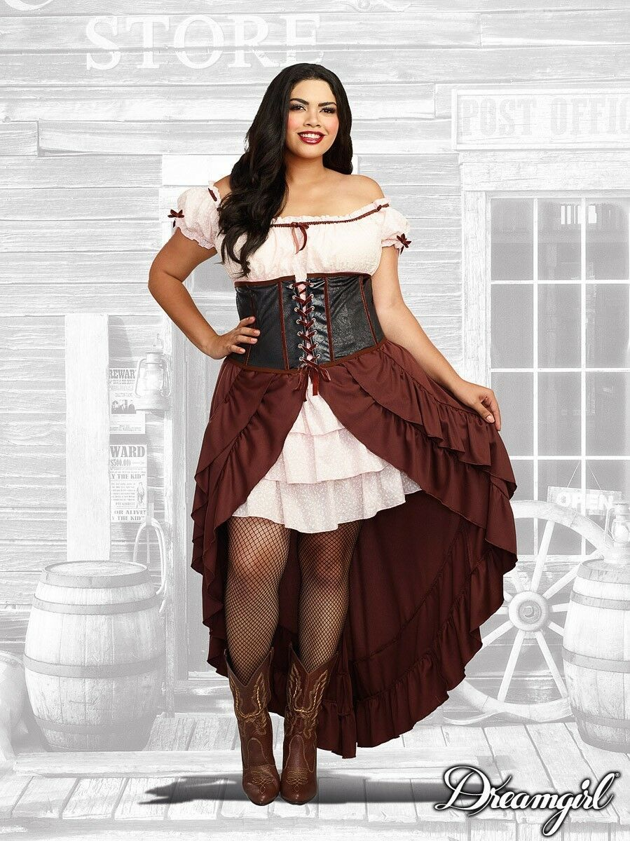 Dreamgirl Saloon Gal Western Adult Plus Size Womens Halloween Costume 11134
