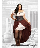 Dreamgirl Saloon Gal Western Adult Plus Size Womens Halloween Costume 11134 - $59.95