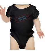 Born In The USA Black Baby Bodysuit Cotton Snap On First 4th Of July - $14.99