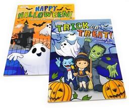 Kids Coloring Books Halloween Activity Pages Travel Bundle Color Gift Set - $9.89