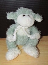 Animal Adventure 2000 Plush sheep lamb rope bow tie bean bottom green blue gray - $17.81