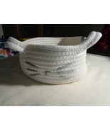 Cat Lady (new) Cozy Cat Rope Basket /White - $25.73