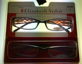 Elizabeth Arden #3 2 Readers 2 Pack Rectangle Black/Brown Multi Plastic 2.0 - $17.99