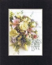 For Romance - The Greatest of These is Love . . . 8 x 10 Inches Biblical... - $11.14