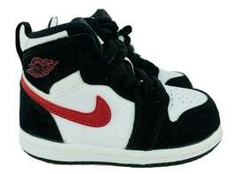 Nike AIR JORDAN Sneakers Kids Children's Size 6C Black White Hightops 70... - $43.65