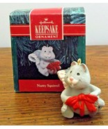 1991 Hallmark Keepsake Ornament Nutty Squirrel with Nut  New in Box - $7.91