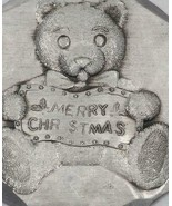 Christmas Ornament Wendell August Forge Teddy Bear - $14.84