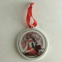 1998 Christmas Ornament Coca-Cola Bottle JCPenney Norman Rockwell Happy ... - $14.60