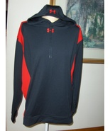 Under Armour 96510 Hoodie Black & Red Womens XL 100% Polyester CA# 41095 - $25.49