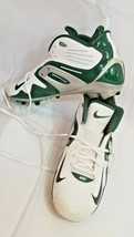2005 Nike Team cleats white forest green silver sz 14 extra pading Sport... - $48.41