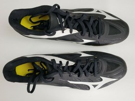 Mizuno Heist IQ Baseball Metal Baseball Cleats Shoes Men's 11.5M BLACK W... - $12.99