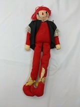 """Handmade Christmas Elf Ragdoll Figure Flocked Felt 10"""" - $12.95"""