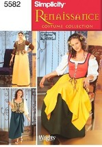 Simplicity Sewing Pattern 5582 Misses Costumes, P5 (12-14-16-18-20) - $13.48