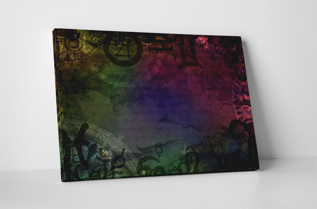 "Primary image for Ancient Symbols Abstract Art Gallery Wrapped Canvas Print 30""x20"" or 20""x16"""