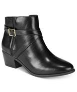 Karen Scott Women Block Heel Ankle Bootie Falonn Size US 7.5W Black Faux... - $9.94