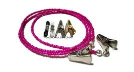 Hot Pink Beaded Eyeglass Holder, Glasses Necklace Strap, PICK YOUR GRIP,... - $9.98