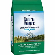 Natural Balance L.I.D. Limited Ingredient Diets Dry Dog Food for Puppies, Lamb & - $83.97