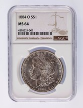1884-O Silver Morgan Dollar $1 NGC Graded MS 64 - $123.74