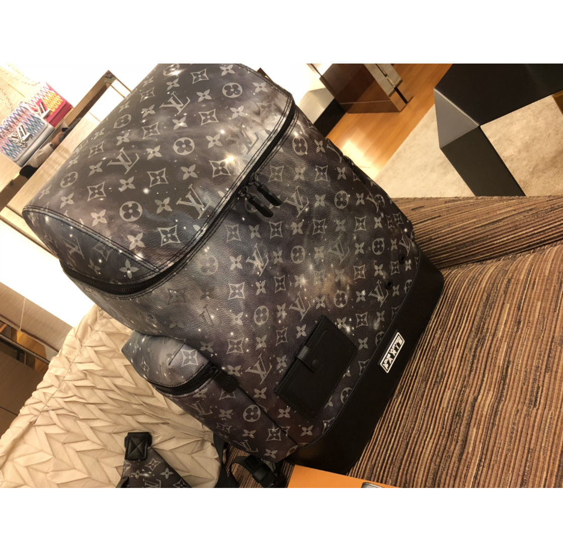 9adae18590a7 Louis Vuitton Monogram Galaxy Backpack Bag Rucksack Auth New Unused Rare  M44174
