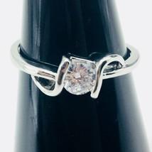 Clear Gemstone Fashion Ring Size 7 - US SELLER - $11.64