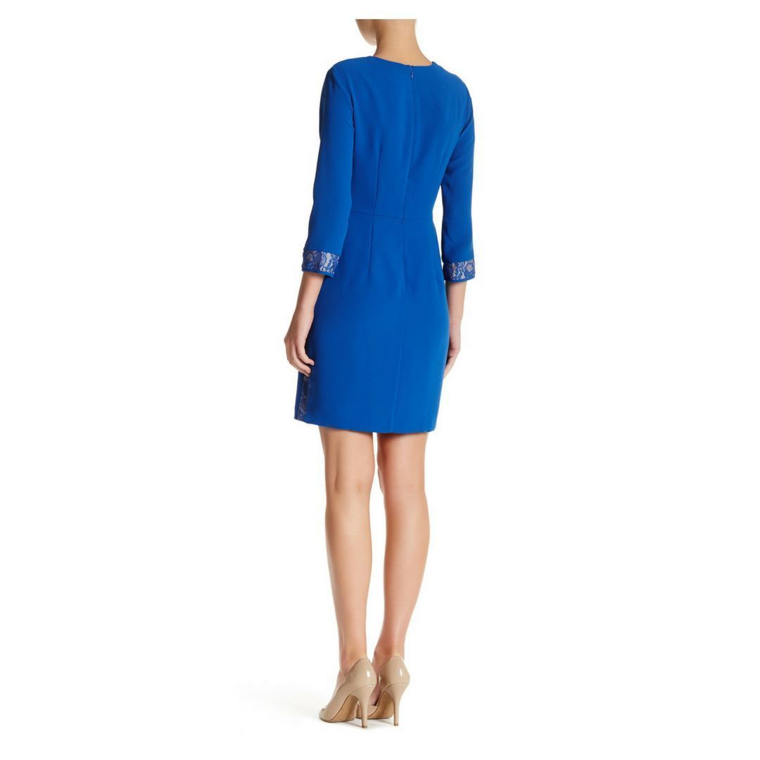 Side Lace Dress Blue, Size 10 Marc New York by Andrew Marc NWT