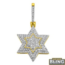 10K Yellow Gold .44cttw Diamond Nano Star of David Charm - $319.20