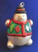 SNOWMAN in Argyle Sweater Vest Ornament - Mercury Glass - Department (Dept.) 56 - $24.50